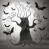 Halloween evil tree Stock Images