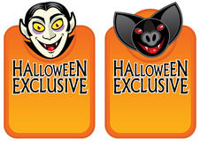 Halloween Exclusive Character Labels Royalty Free Stock Images