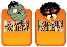 Halloween Exclusive Character Labels 2 Stock Photography