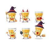 Halloween expression emoticons with cartoon character of glass of beer