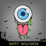 Halloween eye ball monster head Royalty Free Stock Images
