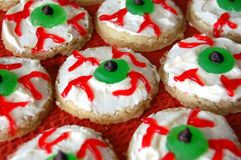 Halloween Eyeball Cookies Royalty Free Stock Images