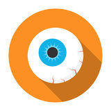 Halloween eyeball icon flat Royalty Free Stock Photo