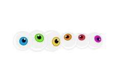Halloween eyeball vector background. Colorful cartoon pupil Stock Photography