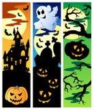 halloween för 5 baner set Arkivfoto
