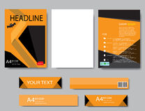 Halloween för designräkningspapper rapport abstrakt geometriskt Arkivbild