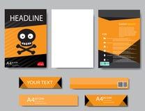 Halloween för designräkningspapper rapport abstrakt geometriskt Arkivbilder
