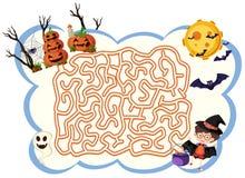 Halloween för Maxe lekmall tema vektor illustrationer