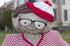 halloween för pojken för 3 bakgrund isolerade den gulliga hatten gammala vita häxaår för scarecrow mycket Arkivfoto