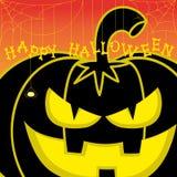 Halloween för vektordesignbeståndsdel pumpa på orange lutningbakgrund Royaltyfri Fotografi