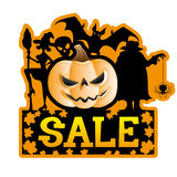 Halloween försäljning Royaltyfri Foto