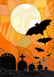 Halloween Fabric Royalty Free Stock Photography