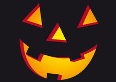 Halloween face in black Royalty Free Stock Photography