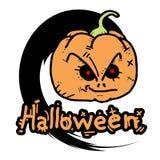 Halloween face fear. Creative design of halloween face fear royalty free illustration