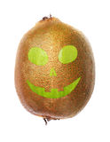 Halloween face kiwi Royalty Free Stock Images