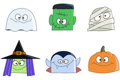 Halloween faces Stock Images