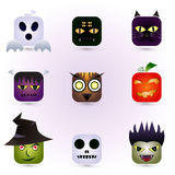 Halloween Faces Stock Image