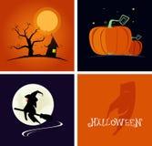 Halloween-Fahne und flache Designart des Logos Auch im corel abgehobenen Betrag Stockfotografie