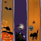 Halloween-Fahnen. Stockbild