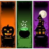 Halloween-Fahnen-Vektor stellte 2 ein Stockfoto