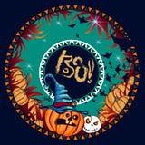Halloween-Fahnendunkelheit Lizenzfreies Stockfoto