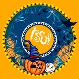 Halloween-Fahnenorange Stockbild