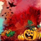 Halloween-Fahnenrot Lizenzfreies Stockbild