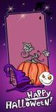 Halloween-Fahnenveilchen Stockfotografie