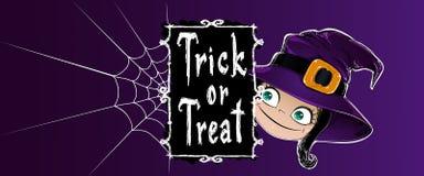 Halloween-Fahnenvektorillustration Stockfotografie