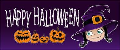 Halloween-Fahnenvektorillustration Stockbild