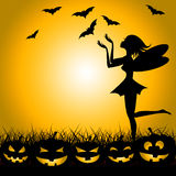 Halloween Fairy Shows Trick Or Treat And Bats Royalty Free Stock Photos