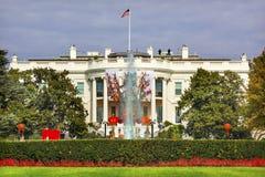 Halloween Fall Decorations White House Washington DC Stock Image