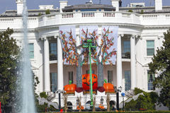 Halloween Fall Decorations White House Washington DC Royalty Free Stock Photo