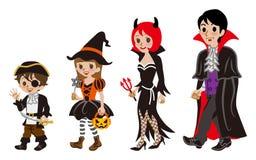 Halloween-Familie, lokalisiert stock abbildung