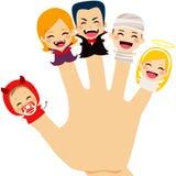 Halloween-Familien-Hand stock abbildung