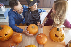 Halloween with family Royalty Free Stock Images