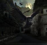 Halloween-Fantasiescenario Stock Foto's