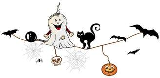 Halloween, fantasma Immagine Stock Libera da Diritti