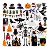 Halloween fashion flat icons Royalty Free Stock Images