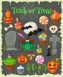 Halloween fashion flat icons  Royalty Free Stock Photos