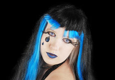 Halloween. Fashion portrait on the black . Royalty Free Stock Images