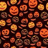 Halloween-Feiertag, nahtloser Hintergrund Stockfoto