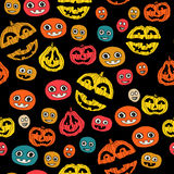 Halloween-Feiertag, nahtloser Hintergrund Stockfotos