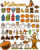 Halloween-Feiertags-Auslegung-Element lizenzfreies stockfoto
