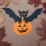 Halloween-Feiertags-Hintergrund Ansicht von oben Lizenzfreie Stockfotos