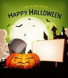 Halloween-Feiertags-Landschaftshintergrund Lizenzfreie Stockbilder