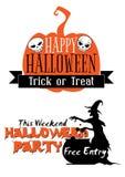 Halloween-Feiertagseinladung Stockfotos