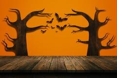 Halloween-Feiertagskonzept Leeres Regal Lizenzfreie Stockfotos