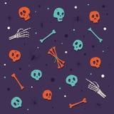 Halloween felice Crani ed ossa illustrazione vettoriale