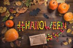 Halloween felice! Il concetto della festa immagine stock libera da diritti